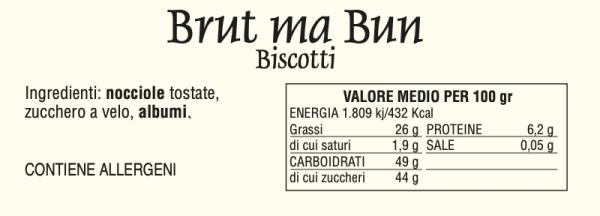 Brut ma Bun - tabella nutrizionale