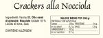 Crackers alle nocciole - tabella nutrizionale