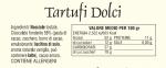 Tartufi di Nocciole - Dichiarazioni nutrizionali