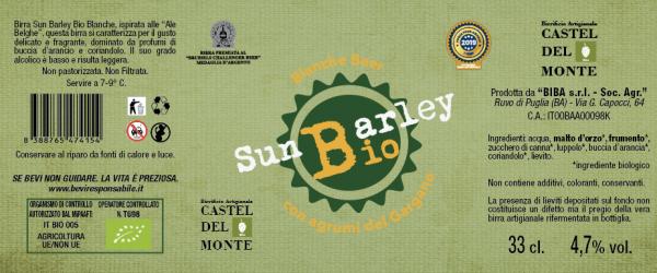 Etichetta Sun Barley Bio Blanche