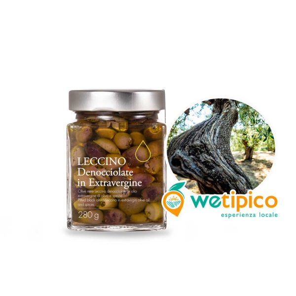 Olive nere denocciolate Leccino
