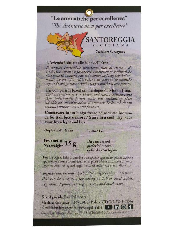 Santoreggia siciliana caratteristiche