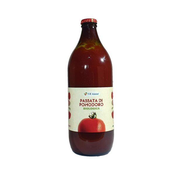 Passata biologica di pomodoro fresco