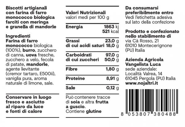 Mattonelle tabella nutrizionale