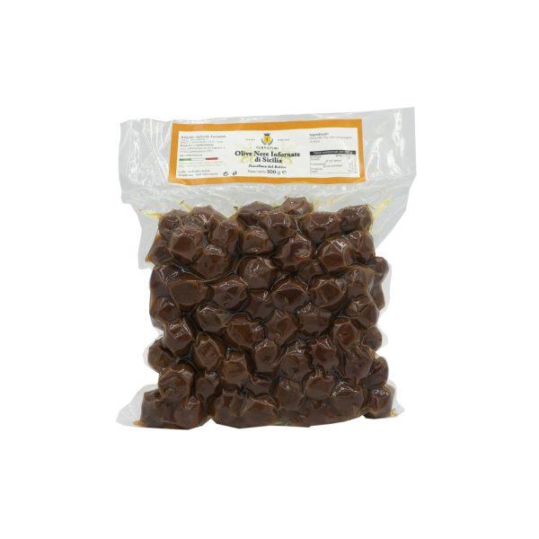 Olive Nere Infornate di Sicilia Nocellara del Belice 500 gr