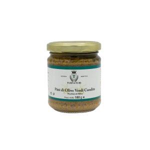 Paté di Olive Verdi Condite in Olio Extravergine da 180 gr