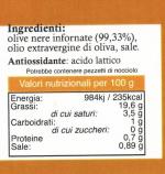 Paté di Olive Nere di Nocellara del Belice etichetta
