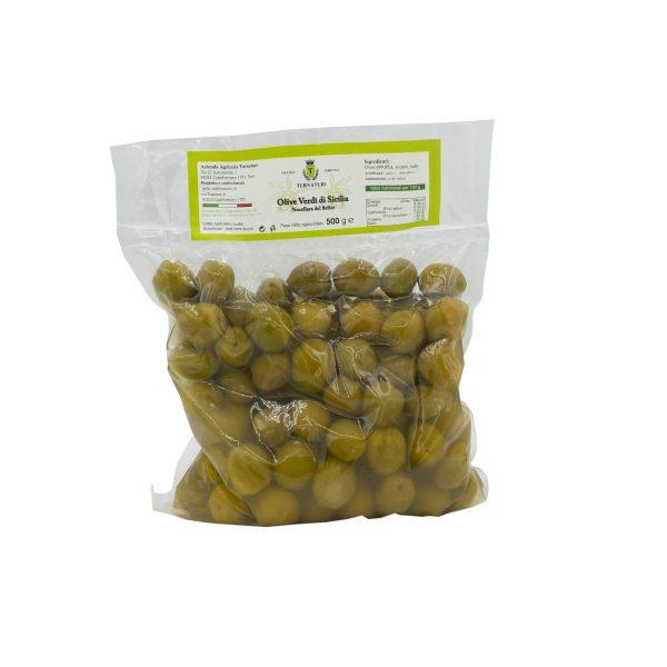 Olive Verdi di Sicilia intere Nocellara del Belice da 500 gr