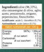 Paté di Olive Verdi Condite in Olio Extravergine etichetta
