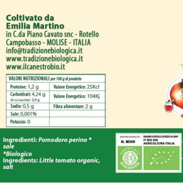 Pomodoro Perino rosso in salsa etichetta
