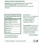 Tiratelli cipolla e uva passa – Taralli salati da 250 gr etichetta