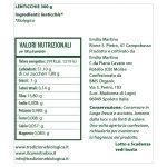 Lenticchia biologica – Legume secco del Molise da 300 gr etichetta