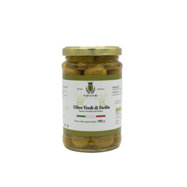 Olive Verdi di Sicilia intere Nocellara del Belice da 340 gr