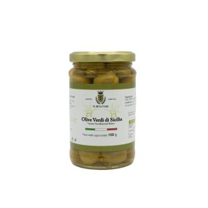 Olive Verdi di Sicilia intere Nocellara del Belice da 180 gr