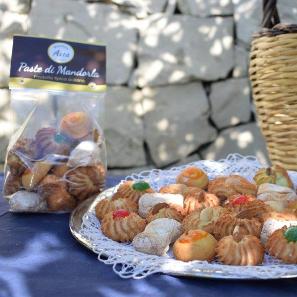 Paste di Mandorla artigianali siciliane da 250 gr aperti