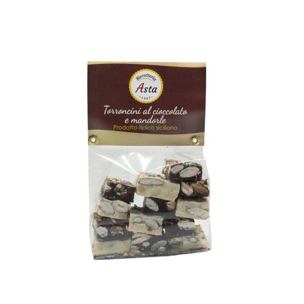 Torroncini al Cioccolato e Mandorle siciliani da 250 gr