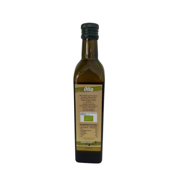 """Olio Extravergine di Oliva biologico Rosciolo di Rotello """"Zaira"""" 500 ml retro"""