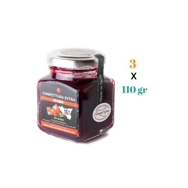 Confettura Extra di Melagrana – artigianale siciliana 110 gr 3 pz aggiornata