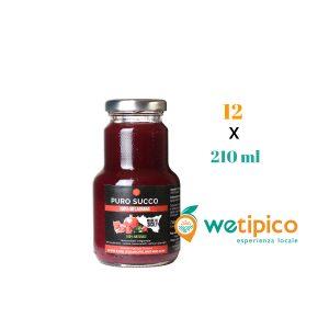 Puro Succo di Melagrana – artigianale siciliano 210 ml 12 pz