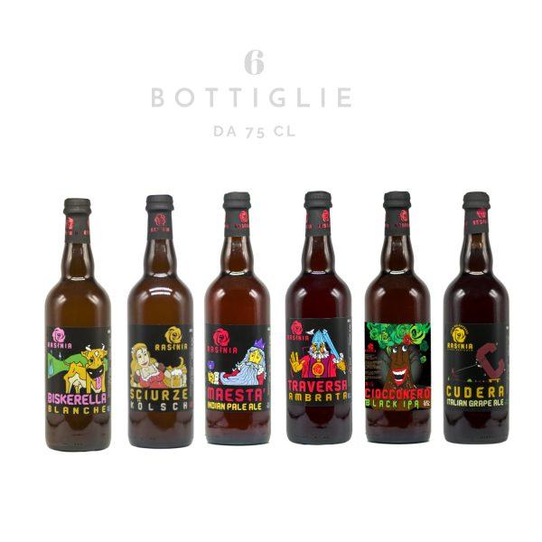 Kit birra agricola toscana 6 bottiglie da 75 cl - Rasinia