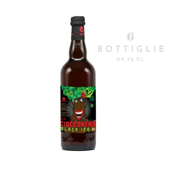 """Black IPA """"Ciocconero"""" – birra agricola toscana 75 cl"""