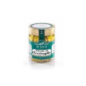 Filetto di Acciughe marinate al limone in Olio EVO biologico
