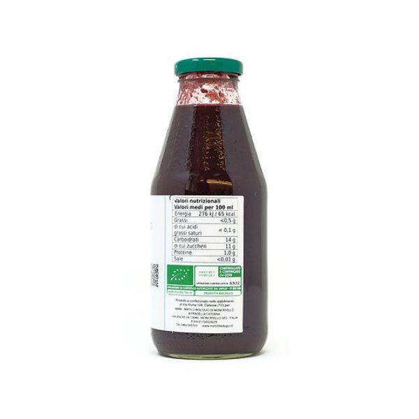 Frullato di Mirtillo Biologico etichetta