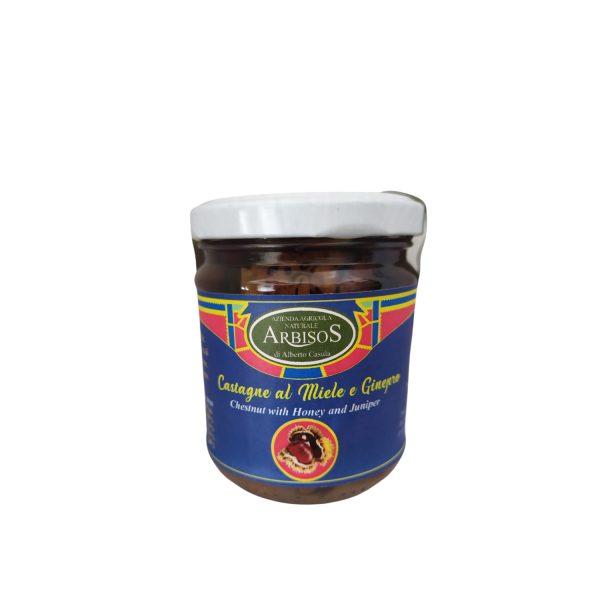 Castagne al Miele e Ginepro – artigianale sardo 250 gr